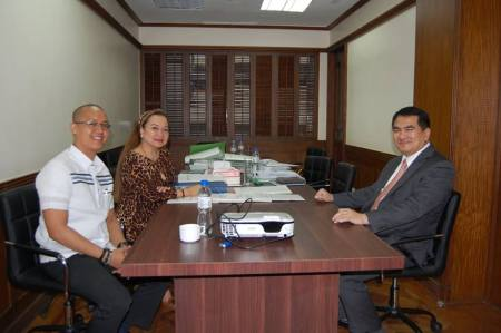 Dean Nilo Divina of UST attended the evaluation visit and was interviewed as a chair holder of the CJ Panganiban Professorial Chair on Liberty & Prosperity