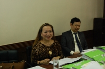 Pres. Evelyn T. Dumdum and Atty. Joel Emerson J. Gregorio (Corporate Secretary)