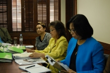 PCNC Evaluation Team, namely, Atty. Emma G. Juralbal , Ms. Noemi L. Villaruz and Ms. Mhel C. Mateo .