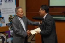 Retired Chief Justice Artemio V. Panganiban and Ateneo Law School Dean Sedfrey Candelaria
