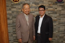 Retired Chief Justice Artemio V. Panganiban and Dean Gemy Lito L. Festin of the Polytechnic University of the Philippines College of Law