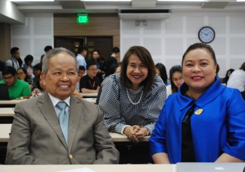 Retired Chief Justice Artemio V. Panganiban, UP College of Law Dean Fides Cordero-Tan, and UP College of Law Professor Elizabeth Aguiling-Pangalangan