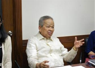 Retired Chief Justice Artemio Panganiban