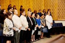 Prof. Pangalangan, Dr. Raul Pangalangan, Gov. Tetangco, Retired CJ Panganiban, Mrs. M. Prieto, Mrs. Panganiban, Atty. June Vee Navarro, & MBFI Pres. Sobrepeña