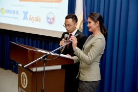 Masters of Ceremonies: FLP Scholars Atty. Jose Angelo Tiglao and Ms. Mikael Gabrielle Ilao