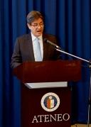 Ateneo Law School Dean Jose Maria Hofileña delivering his opening remarks