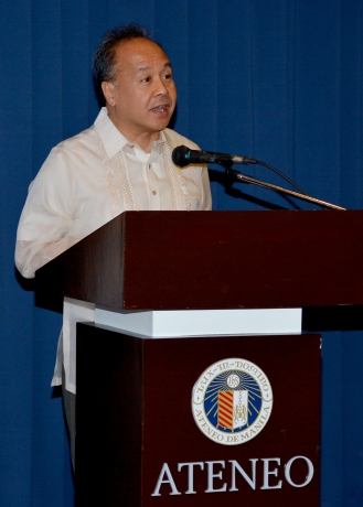 Special Guest of Honor Dr. Raul C. Pangalangan delivering his message