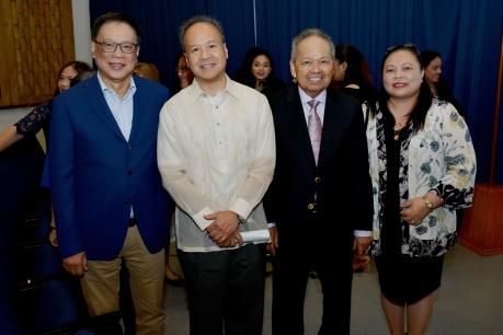Dr. Jesli Lapus, Dr. Raul Pangalangan, Retired CJ Panganiban, & Prof. Aguiling-Pangalangan